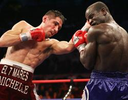 Clottey in action against Margarito