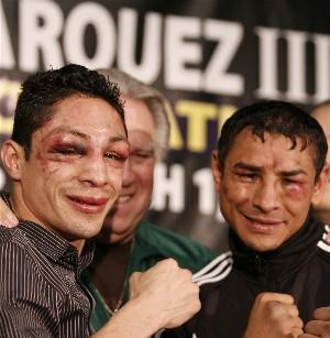 Israel Vazquez and Rafael Marquez
