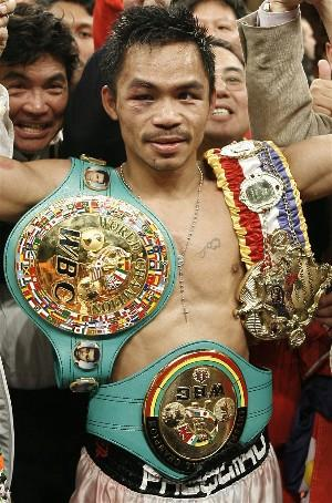 Manny Pacquiao has won world titles at 122, 126 and 130 lbs.