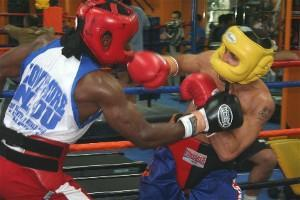 Lovemore Ndou, left sparred six fast rounds with Darchinyan