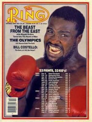 John Mugabi, The Ring cover, October 1984