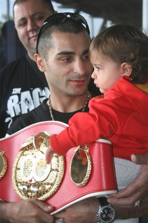 Vic Darchinyan with his son Ruben