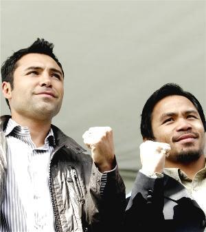 De La Hoya vs. Pacquiao: HoganPhotos.com