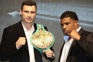 Klitschko and Solis square up to each other