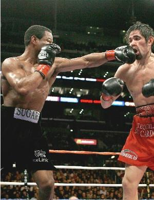 Mosley cracks Margarito: HoganPhotos.com