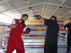 Maidana working hard in training