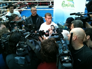 Bute holds court with the  Media earlier this week.