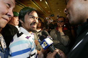 Pacquiao arrives In Vegas