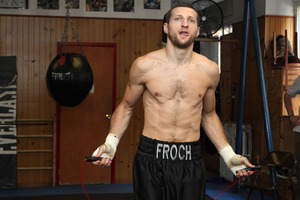 Froch skips rope in New York (pics Tom Casino)