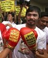 Pacquiao-Marquez Rally Attracts 70,000 Fans In Manila‏