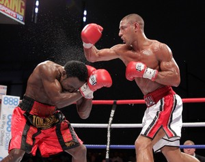 Brook in action against Ndou