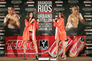 Tecate girls add a bit of glamour to the weigh in