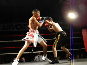 Danny Santiago in action against Galaviz