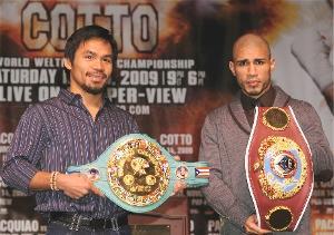 Pacquiao-Cotto: Naoki Fukuda/WBC