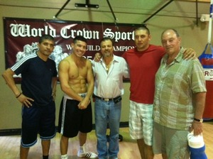 Left to right Sarmiento, Sergio Martinez, Lewkowicz, Abdusalamo