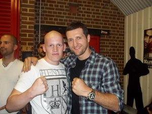 Jamie Wood with world champion Carl Froch