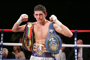 Jamie McDonnell with belts (pic: Javed Iqbal)