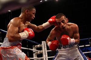 Rivas and  Calderon battle it out