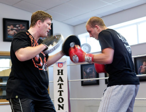 Hatton in his new training role(Mark Robinson)