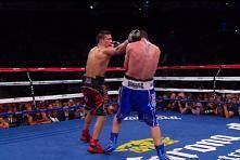 Martinez lands a right hand on Barker