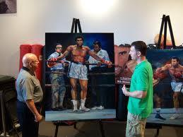 McTier shows Dundee his latest Ali painting