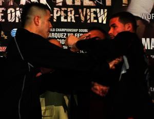 RIos and Abril scuffle in LA