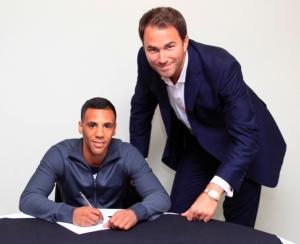 Yafai signing a promotional deal with Hearn