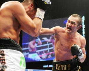 Shumenov lands a right hand on Ornelas
