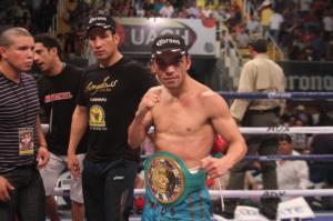 Fernando Montiel celebratea win