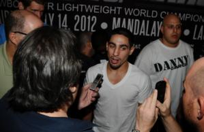 Garcia arrives in vegas
