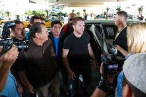 Canelo Alvarez arrives in Vegas