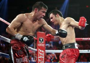 Martinez and Chavez jr exchange punches(Chris farina)