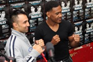 Malignaggi and Jacobs At Gleason's Ahead of Oct. 2