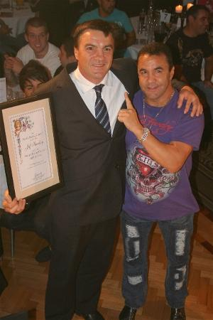 Jeff Harding & three-division world champion Jeff Fenech