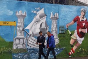 Kessler walking around Belfast