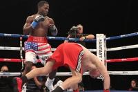 Russell Jr Castaneda to the canvas (Tom Casino)