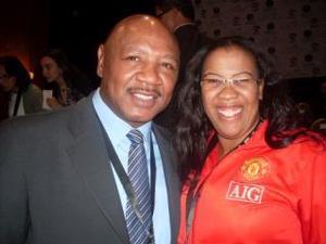Sylvia with Marvin Hagler