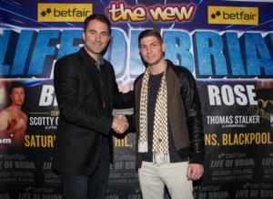 Promoter Eddie Hearn with  Rose