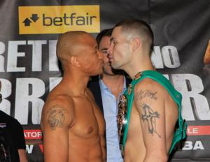Bellew and Chilemba square up