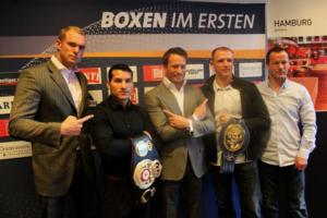 Culcay and  Braehmer at German presser