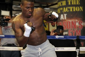Quillin shadow boxing