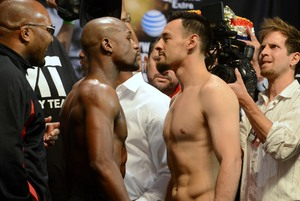 Mayweather And Guererro eye to eye