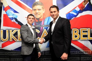 Campbell with promoter Eddie Hearn