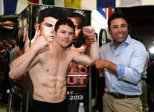 De La Hoya will be there to support  Canelo