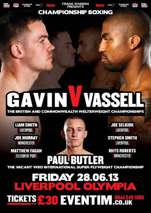 Gavin vs Vassell poster