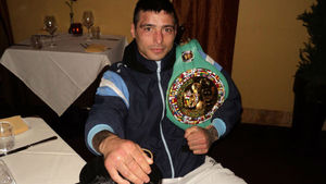 Matthysse proudly shows off his belt