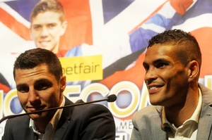Coyle and Ogogo at the press conference
