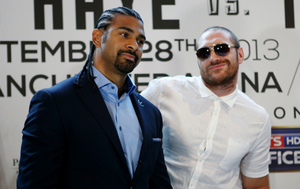 Fury smiles at the prospect of facing Haye