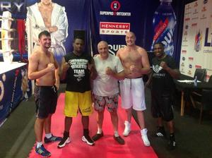 L to R Hughie Fury, Whyte, Peter Fury, Tyson Fury and Sprott