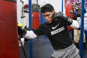 Diaz Jr hits the bag
